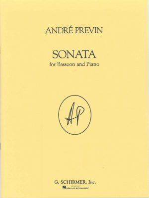 Previn:  Sonata for bassoon and piano