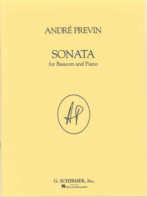 Previn:  Sonata for bassoon and piano