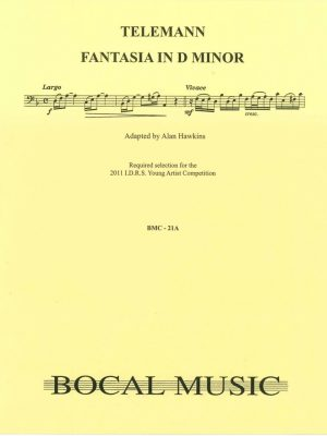 Telemann:  Fantasie No. 4 in d minor for bassoon