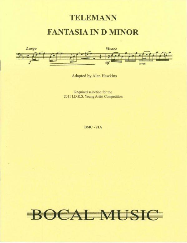 Telemann:  Fantasie No. 4 in d minor for bassoon
