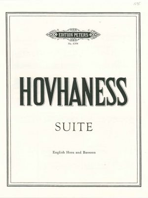 Hovhaness: Suite for English horn and bassoon