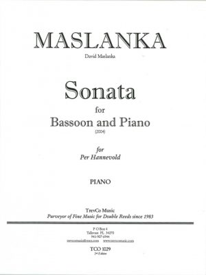 Maslanka: Sonata for Bassoon and Piano
