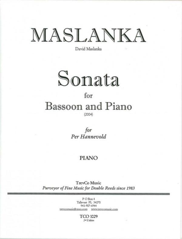 Maslanka: Sonata for Bassoon and Piano