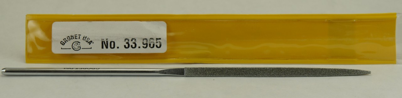 Grobet Triangular Diamond File, 220 Grit