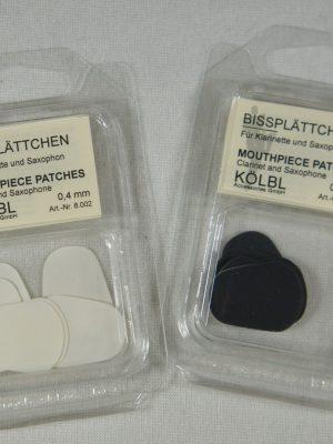 Kolbl Mouthpiece Cushions; 6 Pack, Clear/Thin .4mm