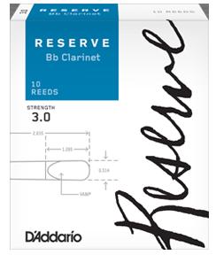 D'Addario Rico Reserve Bb Clarinet reeds