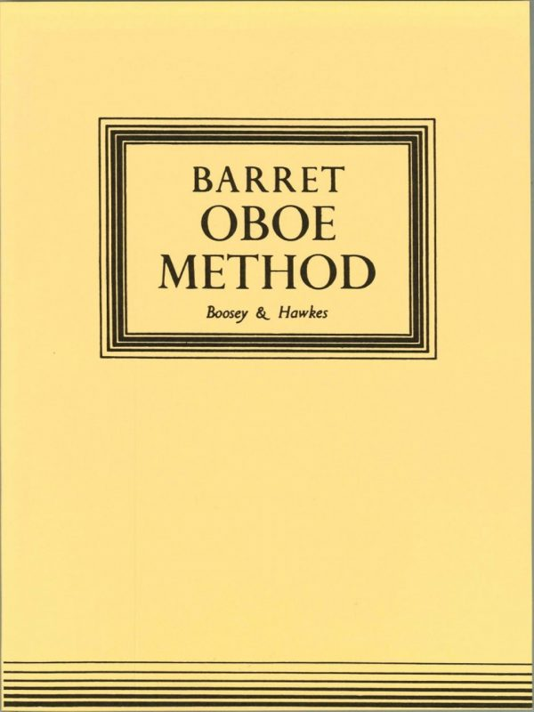 Barret: Oboe Method, publ. B & H