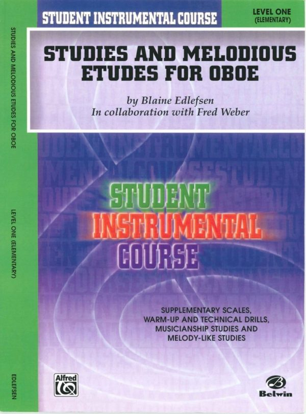 Edlefsen: Studies & Melodious Etudes for Oboe, Vol. 1 (elementary)