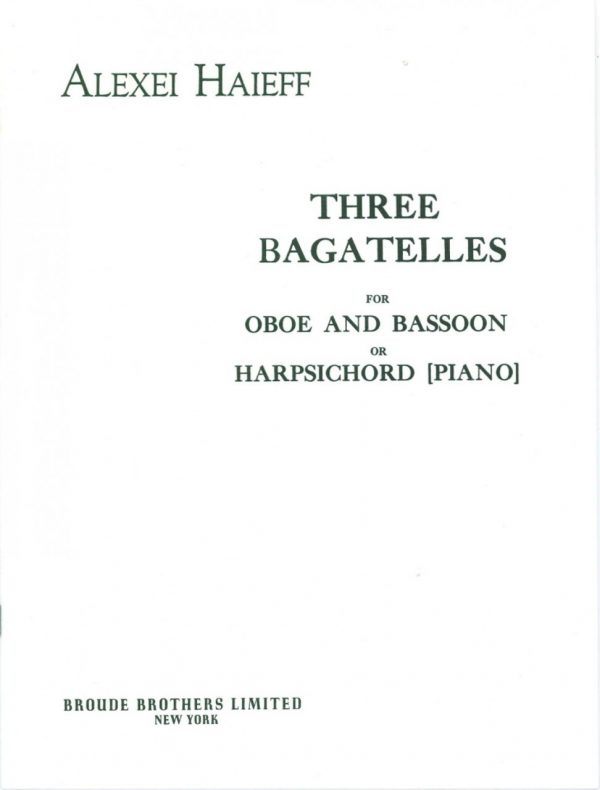 Haieff: Three Bagatelles for Oboe and Bassoon