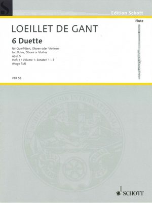 Loeillet: 6 Duets for Oboe, Opus 5 Vol. 1