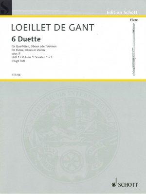 Loeillet: 6 Duets for Oboe, Opus 5 Vol. 1