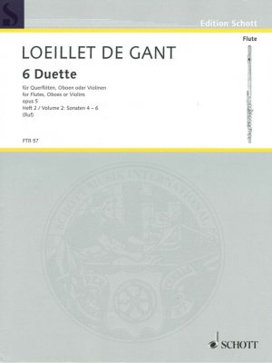 Loeillet: 6 Duets for Oboe, Opus 5 Vol. 2