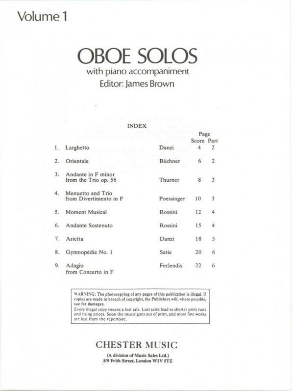 Oboe Solos, James Brown