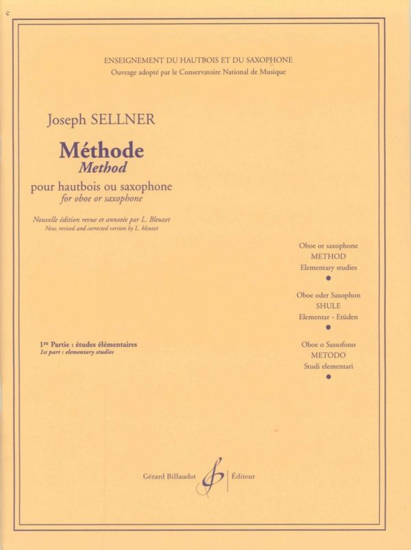 Sellner: Oboe Method, Vol. 1