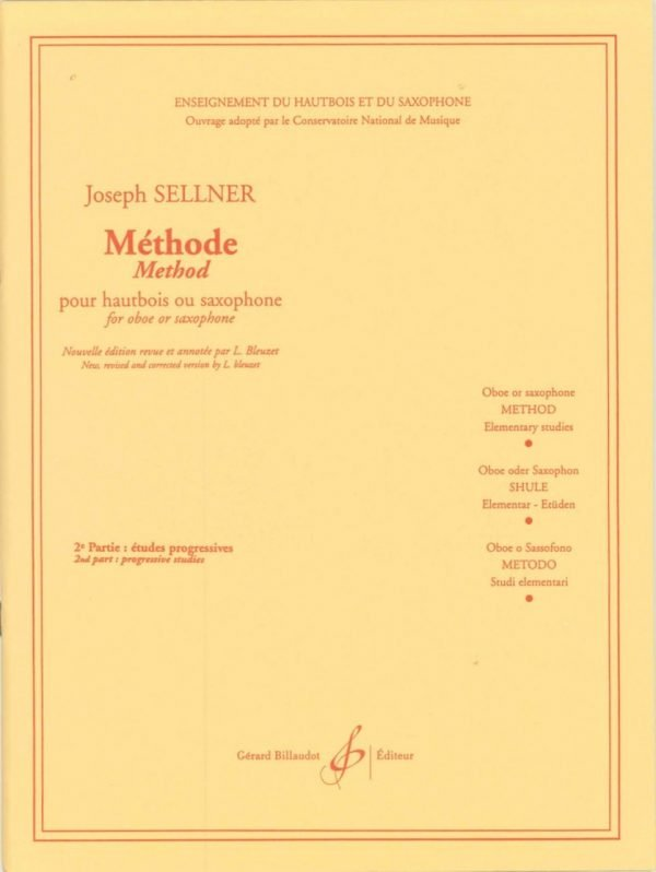 Sellner: Oboe Method, Vol. 2