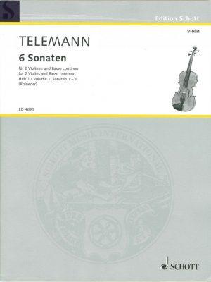 Telemann: 3 Sonatas for 2 Violins & Basso Continuo, Vol. 1