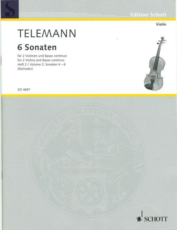Telemann: 3 Sonatas for 2 Violins & Basso Continuo, Vol. 2