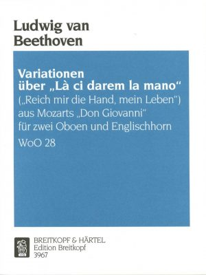 Beethoven: La ci darem la mano for 2 oboes and English horn