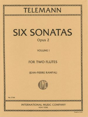 Telemann Six Sonatas Op.2 for Two Flutes (Oboes) Vol.1
