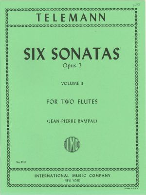 Telemann Six Sonatas Op.2 for Two Flutes (Oboes) Vol.2