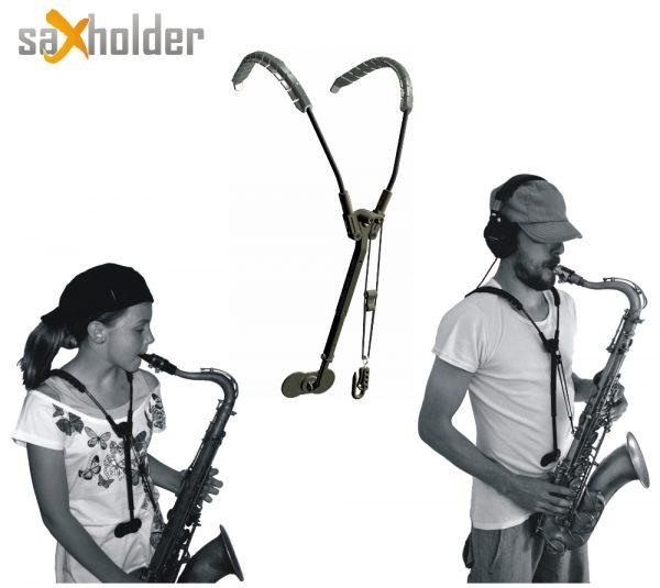 Saxholder instrument harness