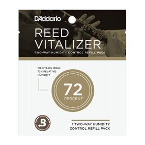 D'Addario Reed Vitalizer Single Refill Humidipaks; 72% Humidity