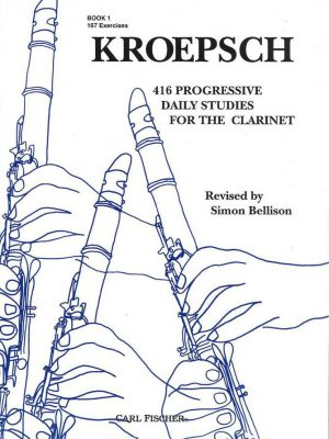 Kroepsch 416 progressive Daily Studies for the Clarinet. Book I