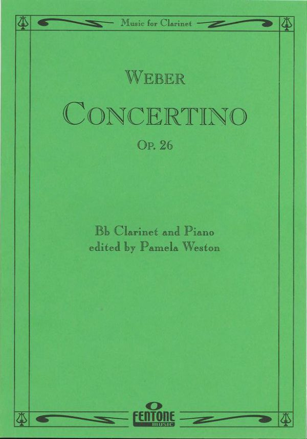 Weber: Concertino Op. 26 for Bb Clarinet and Piano (Weston)