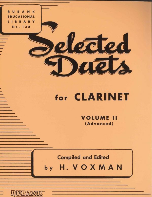 Voxman Clarinet Selected Duets, Vol. 2