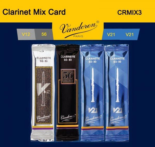 Vandoren Bb Clarinet Reeds Mix Card Size 3
