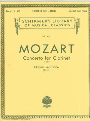 Mozart Concerto for Clarinet K. 622 Schirmer ed.