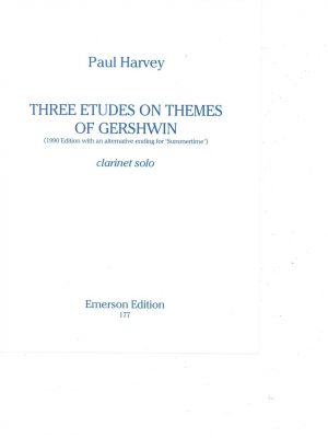 Paul Harvey Three Etudes of Themes of Gershwin