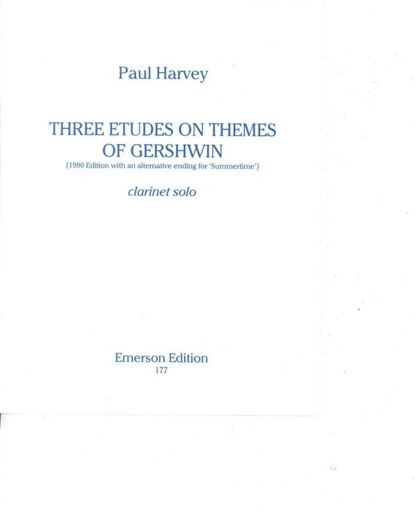 Paul Harvey Three Etudes of Themes of Gershwin