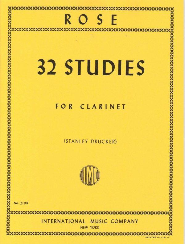 Rose 32 Studies for clarinet